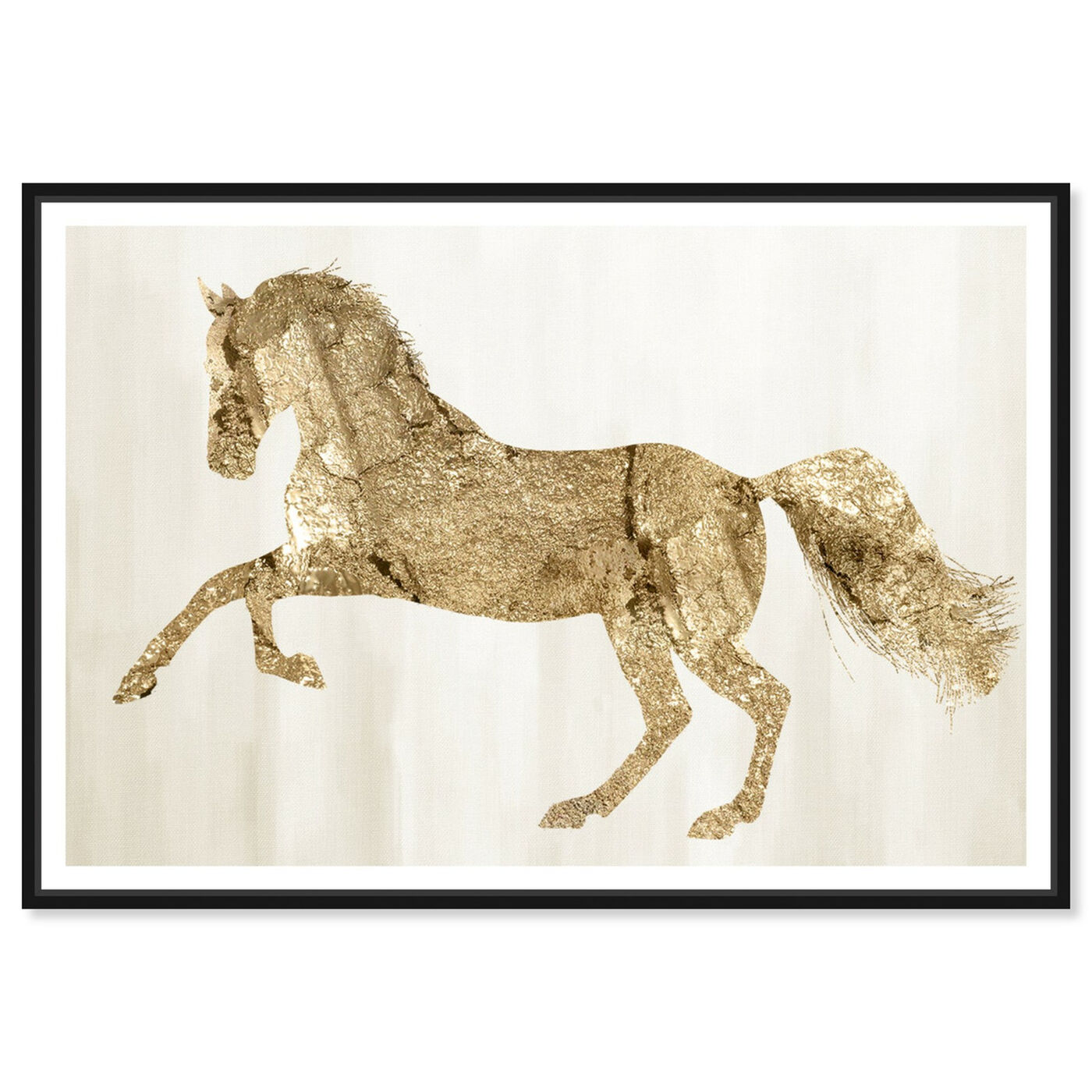 Front view of Gold Wild and Free featuring animals and farm animals art.