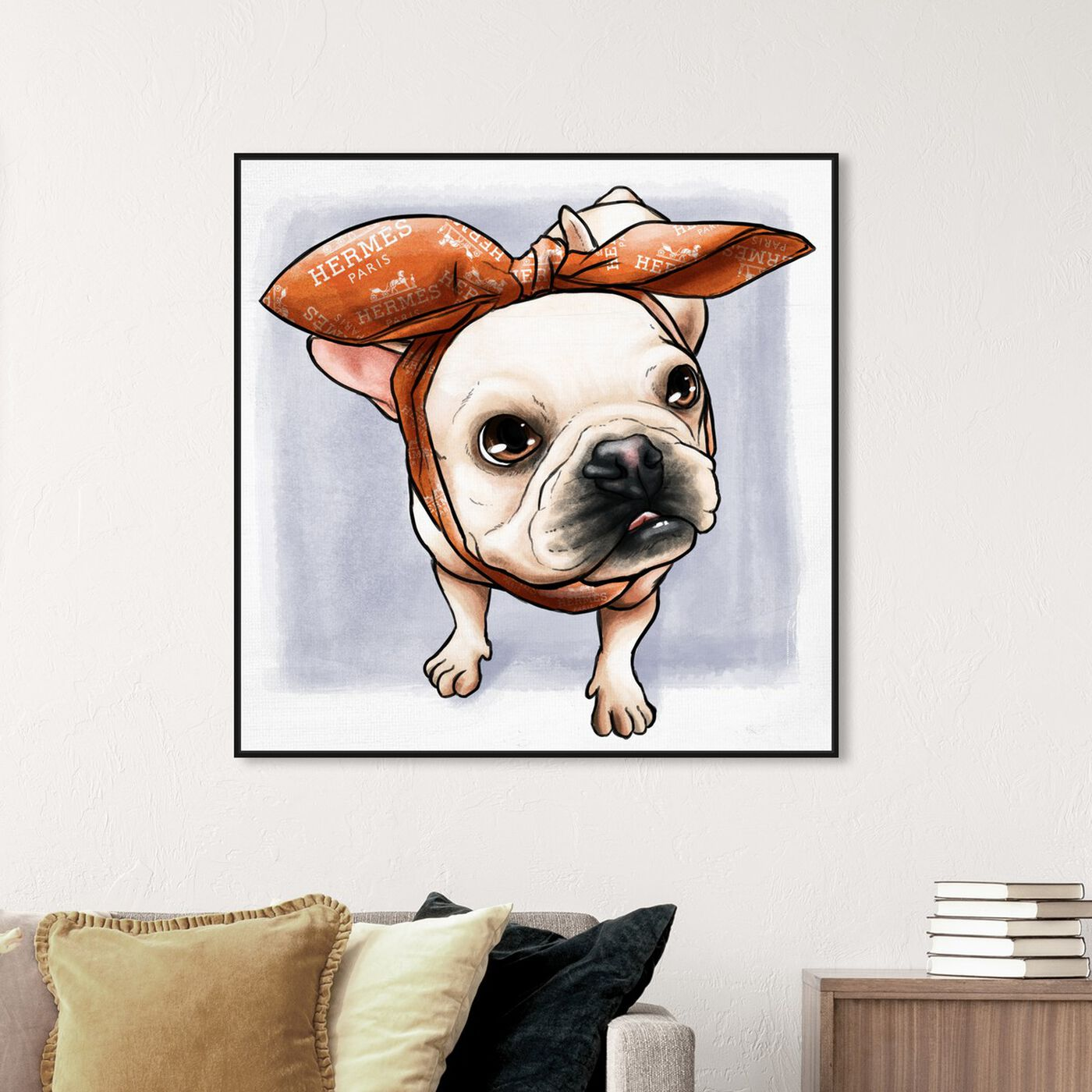 Hanging view of Headband Frenchie featuring fashion and glam and accessories art.