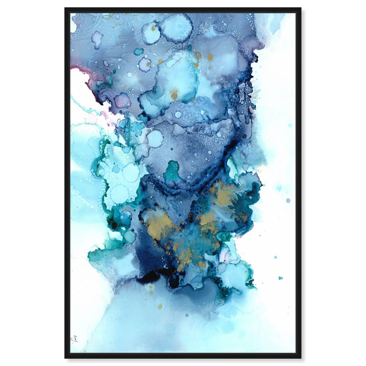 Front view of Jamie Blicher - Whitney featuring abstract and watercolor art.