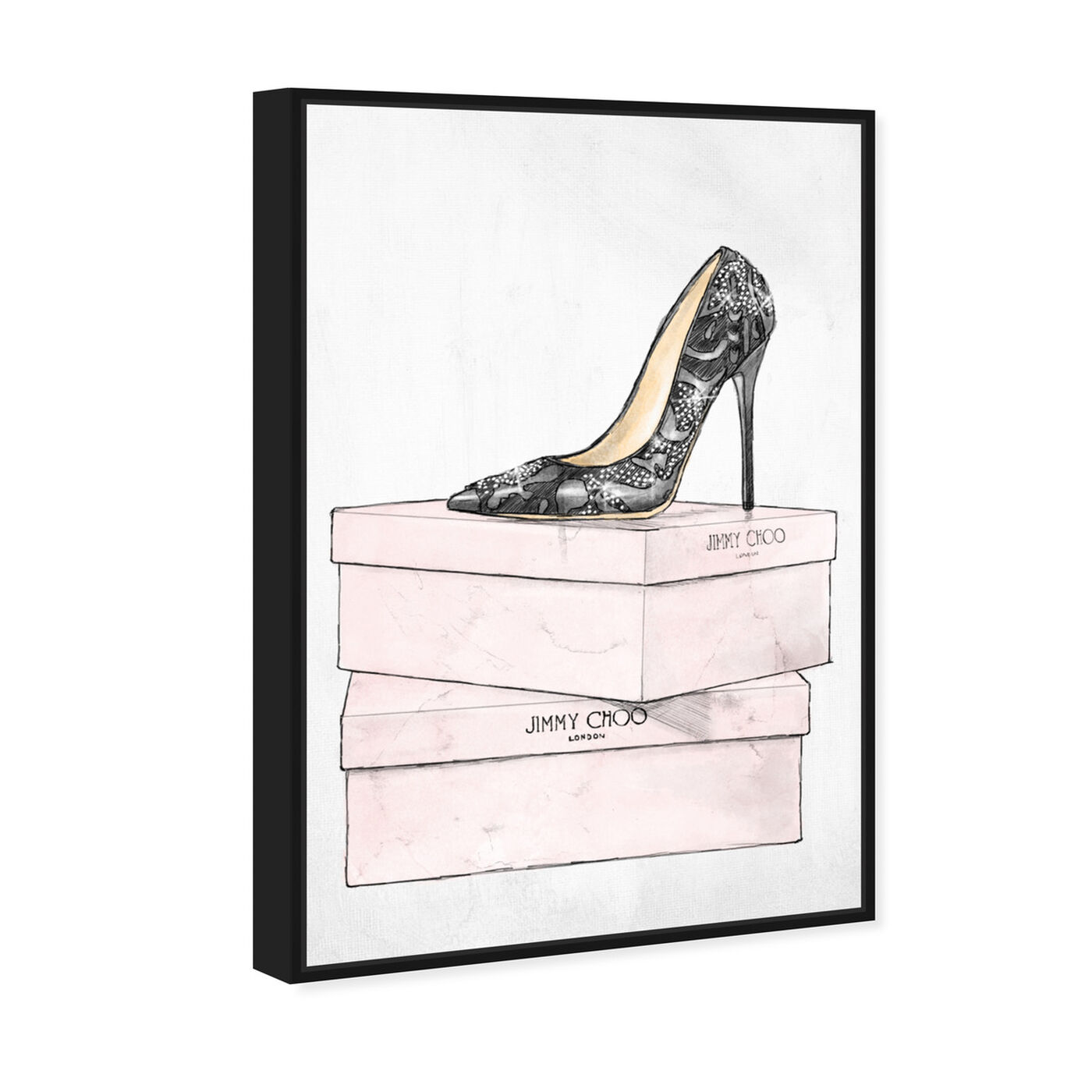 Angled view of The One and Only featuring fashion and glam and shoes art.
