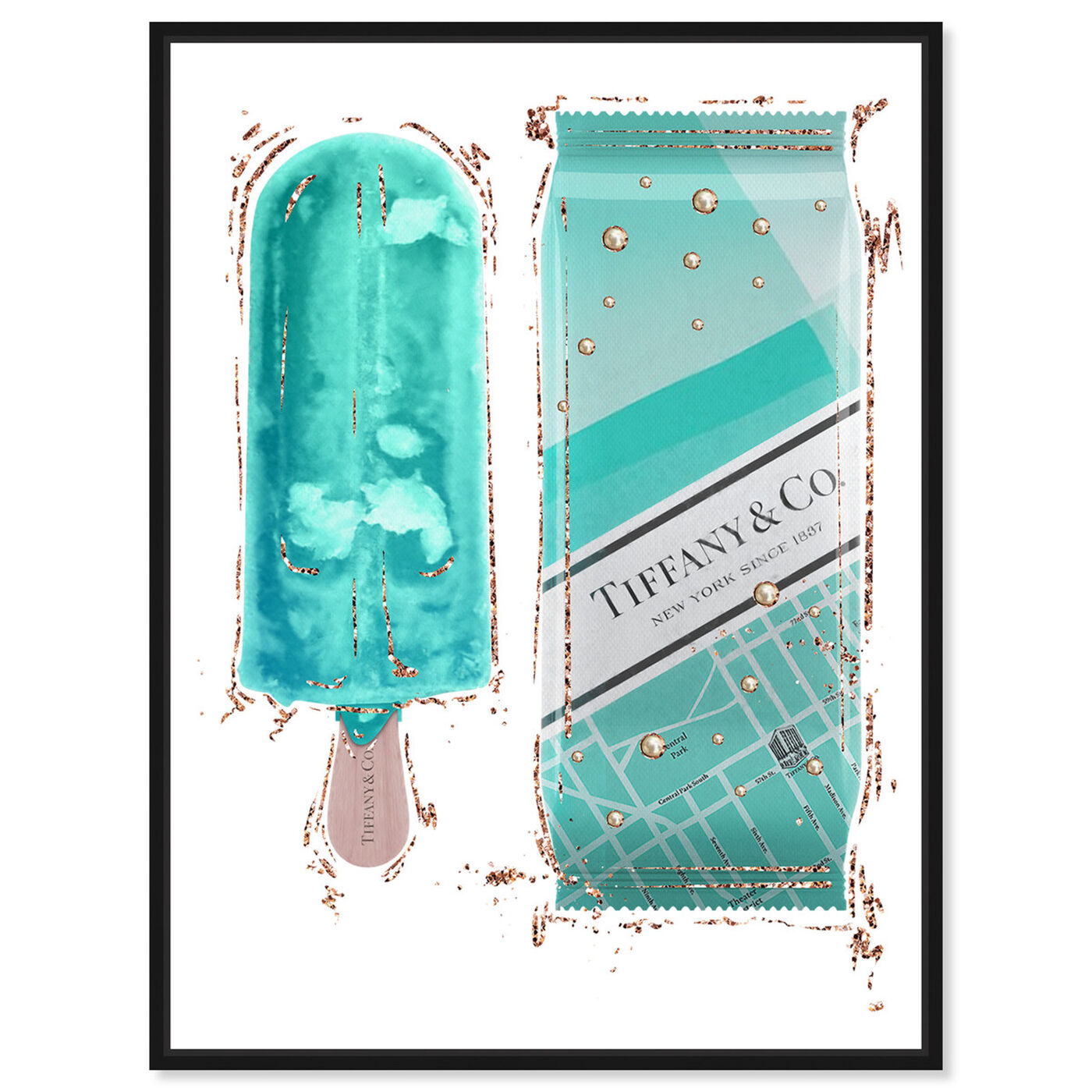 Front view of Sweet Fashion Aqua Pop featuring fashion and glam and lifestyle art.