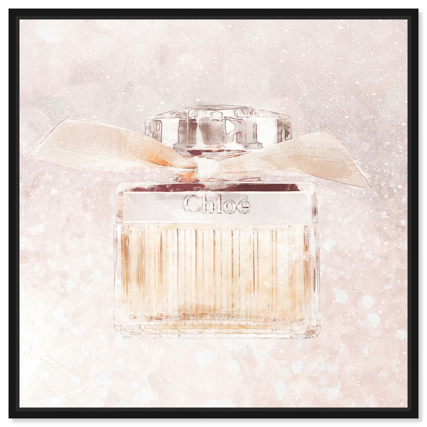 Front view of Luxe Boutique Champagne Parfum featuring fashion and glam and perfumes art.