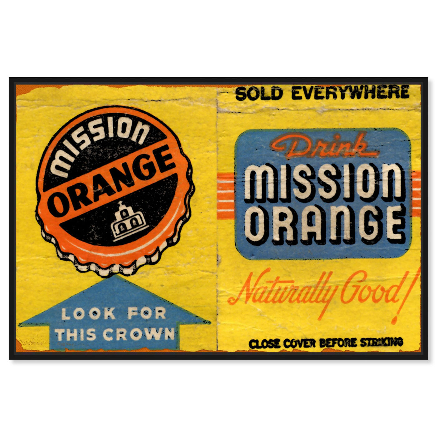 Front view of Mission Orange featuring advertising and posters art.