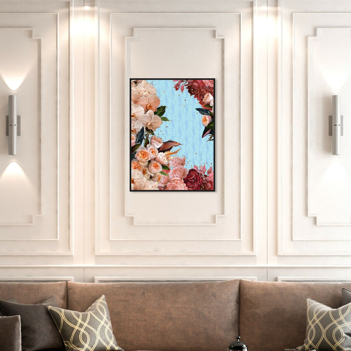 Hanging view of Classic Floral Fashion featuring floral and botanical and florals art.