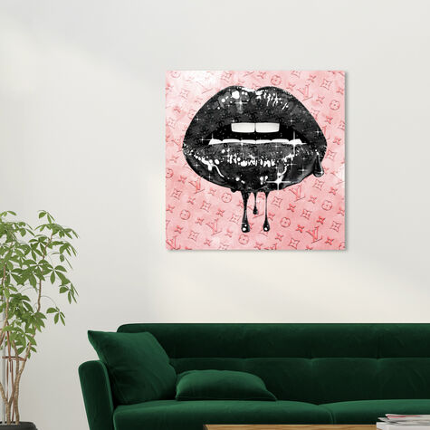 Noir and Blush Lips