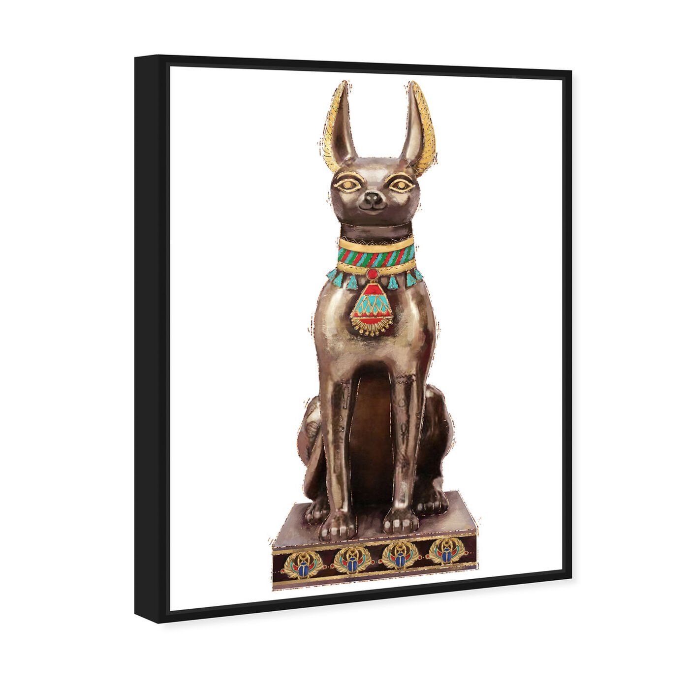 Angled view of Dog Icon featuring animals and dogs and puppies art.