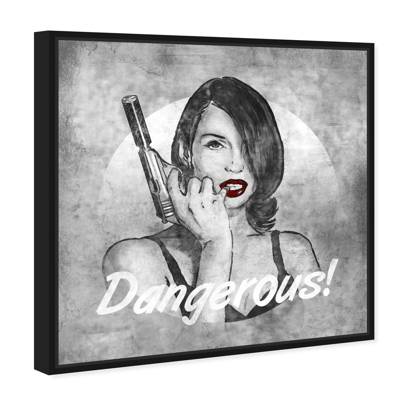 Angled view of She's Dangerous featuring fashion and glam and lips art.