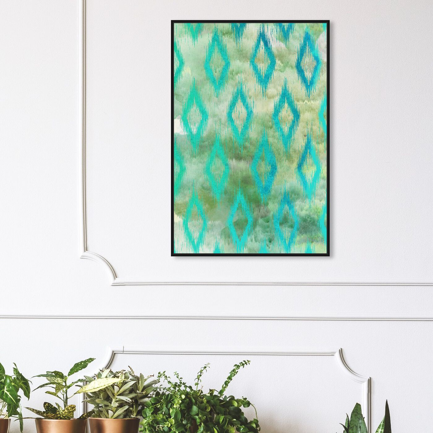 Hanging view of Pondycherry featuring abstract and patterns art.