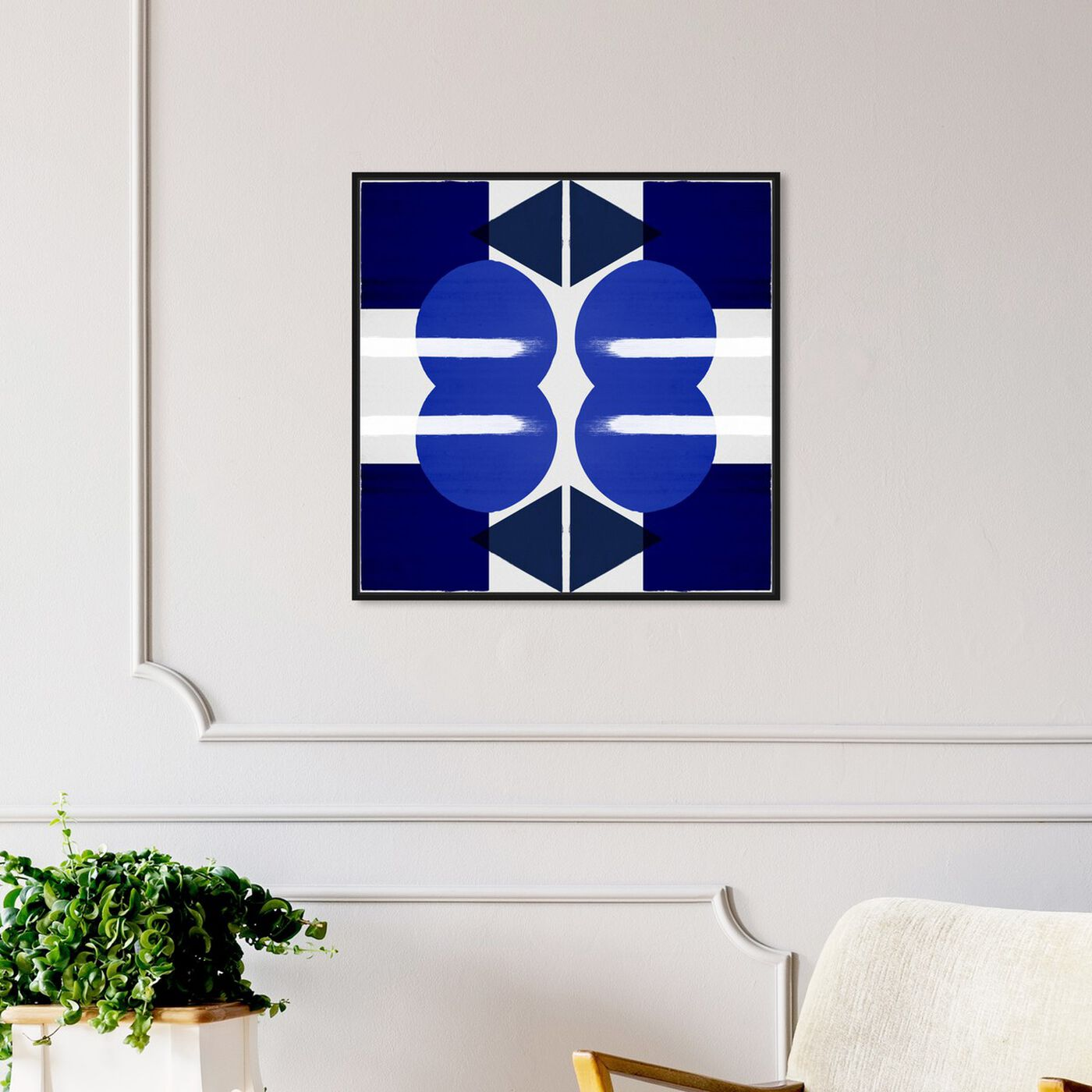 Hanging view of Geometry Studies III featuring abstract and geometric art.