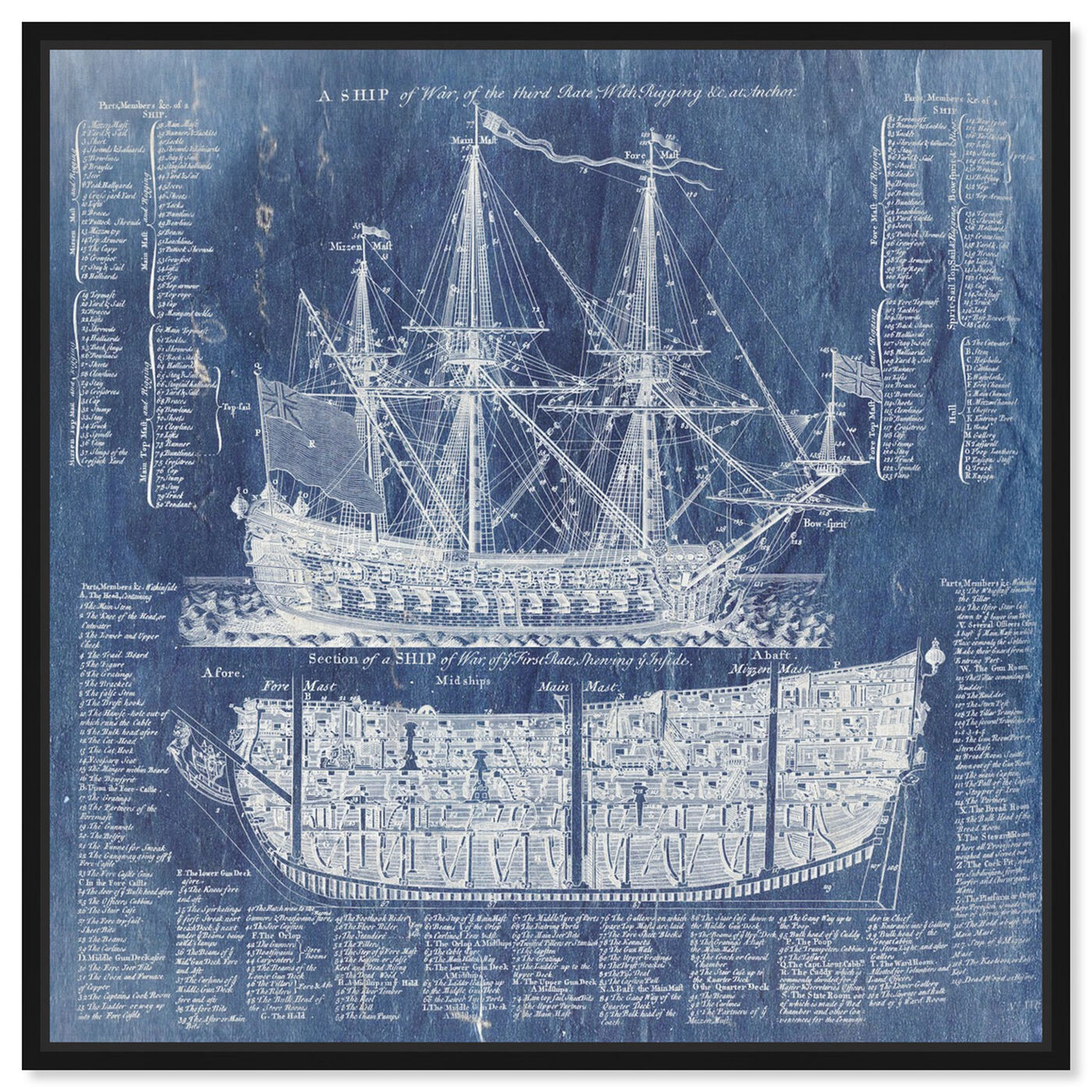 Front view of Ship Vocabulary and Terms featuring nautical and coastal and nautical watercrafts art.