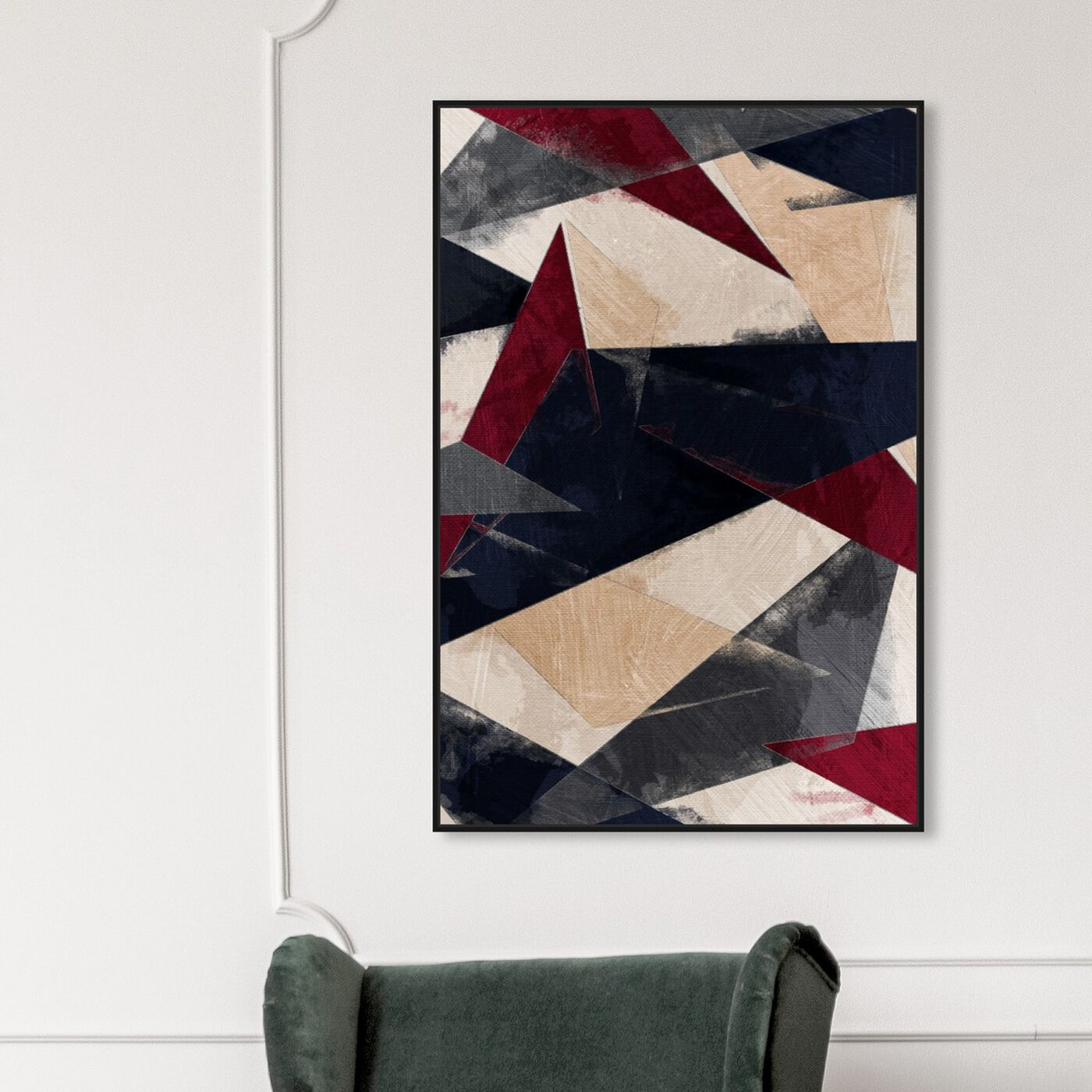 Hanging view of Rusticae featuring abstract and geometric art.