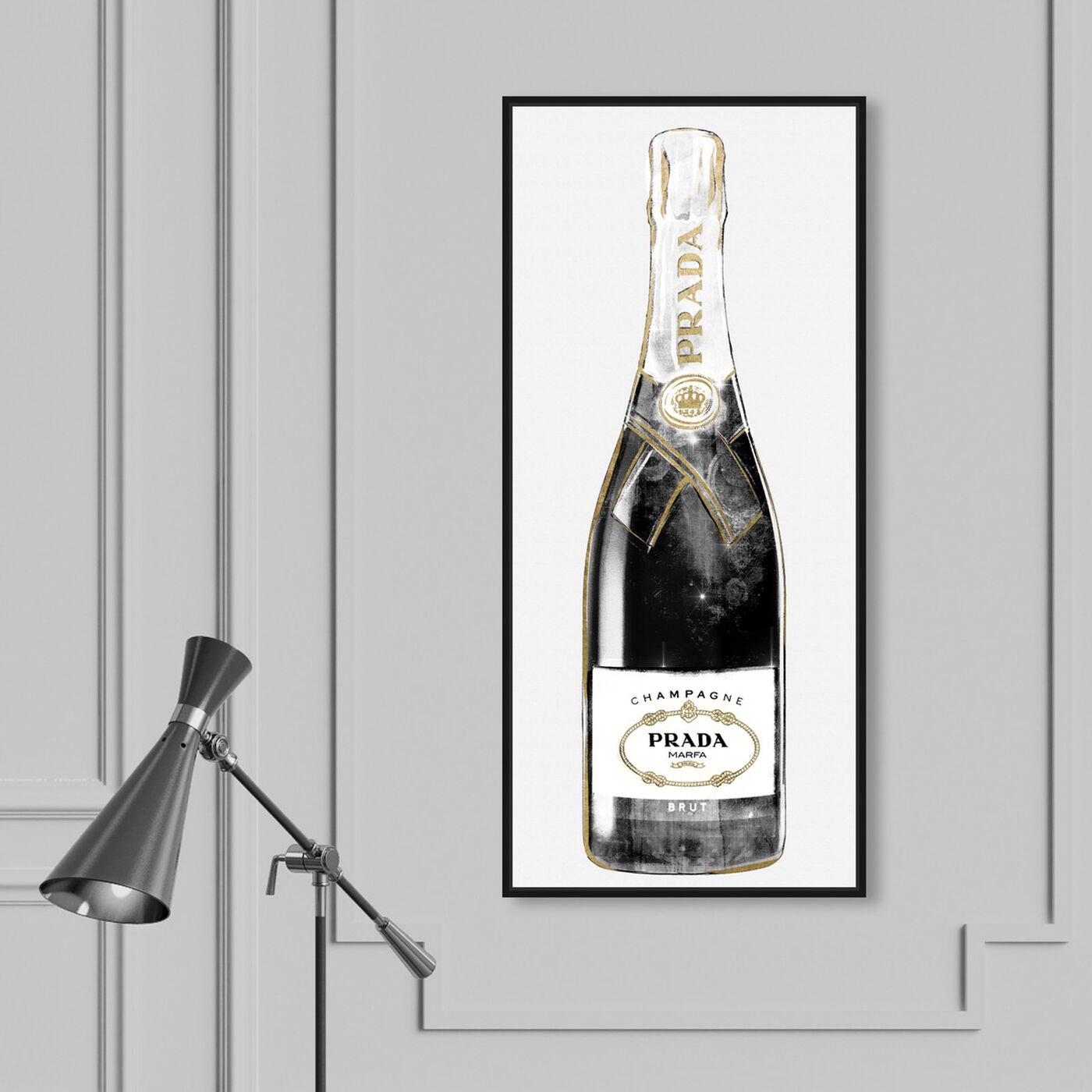 Hanging view of Trendy Milan Champagne Tall featuring fashion and glam and lifestyle art.