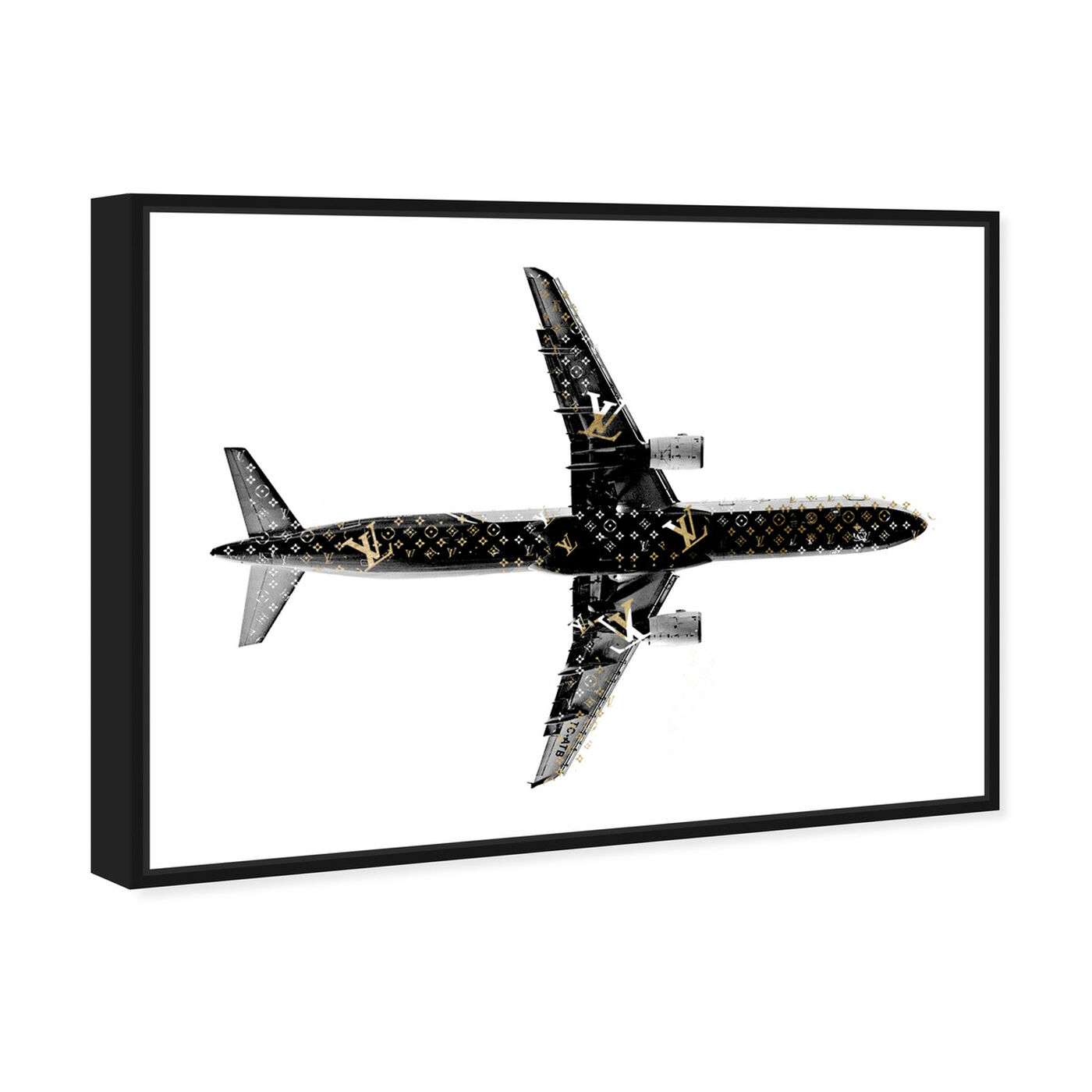 Angled view of Trendsetter LV Airlines featuring fashion and glam and lifestyle art.