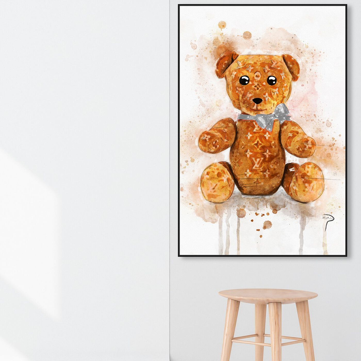 Hanging view of Pily Montiel - Teddy Bear featuring symbols and objects and toys art.