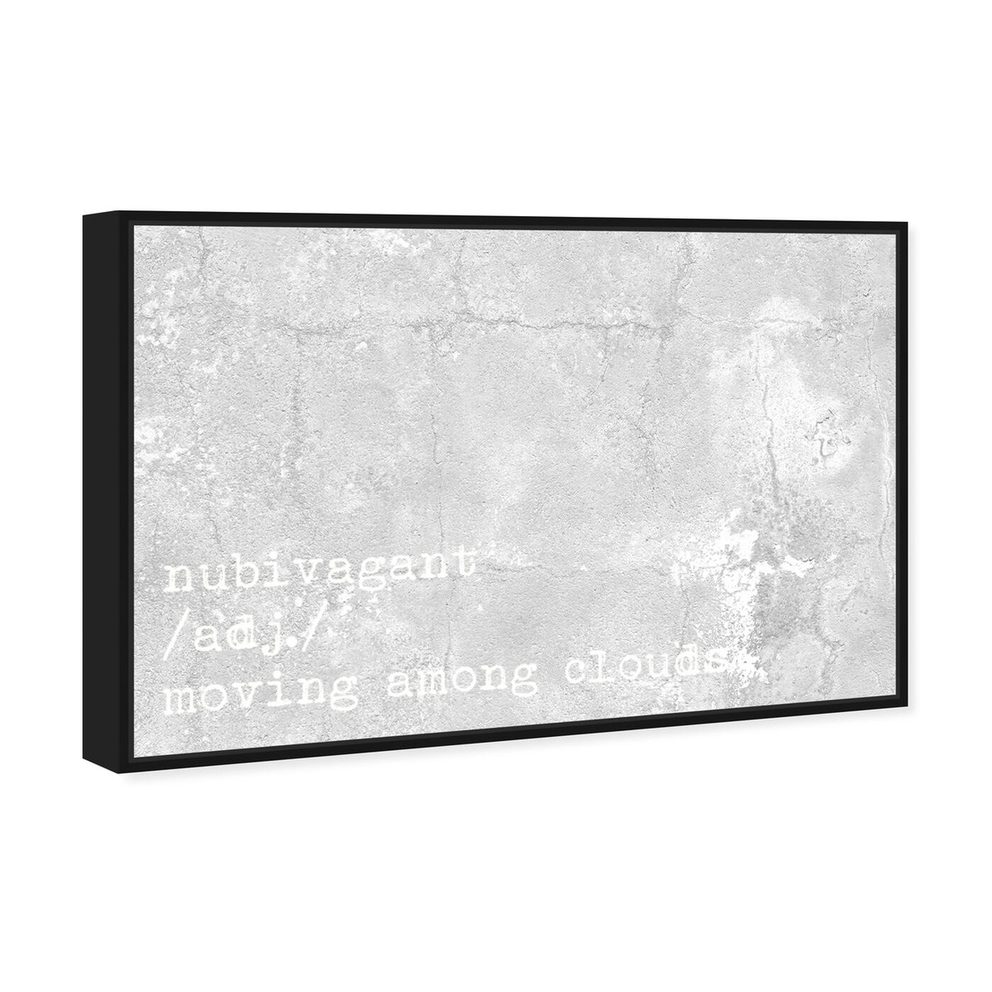 Angled view of Moving Among Clouds featuring typography and quotes and quotes and sayings art.