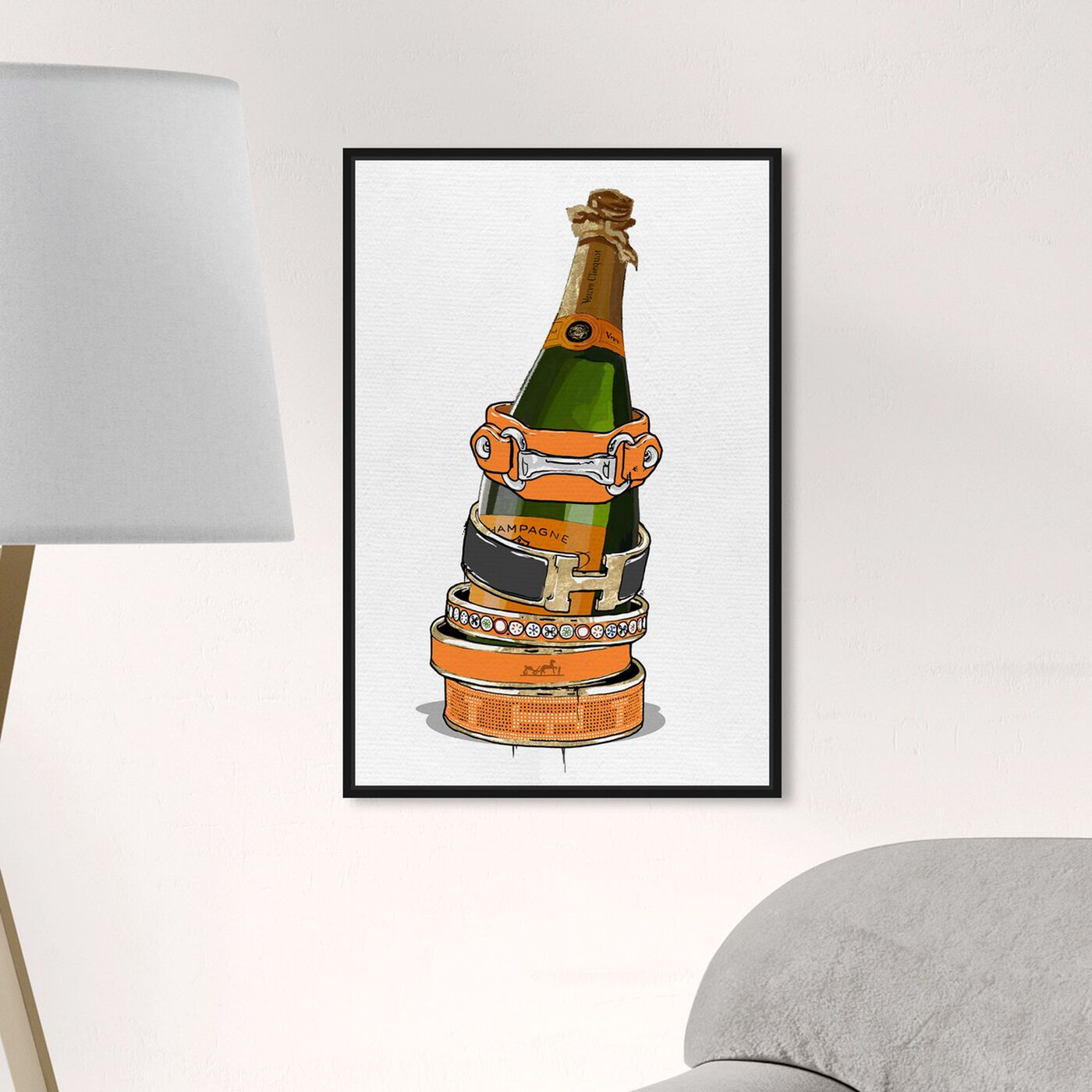 Hanging view of Arm Candy Champagne featuring fashion and glam and jewelry art.