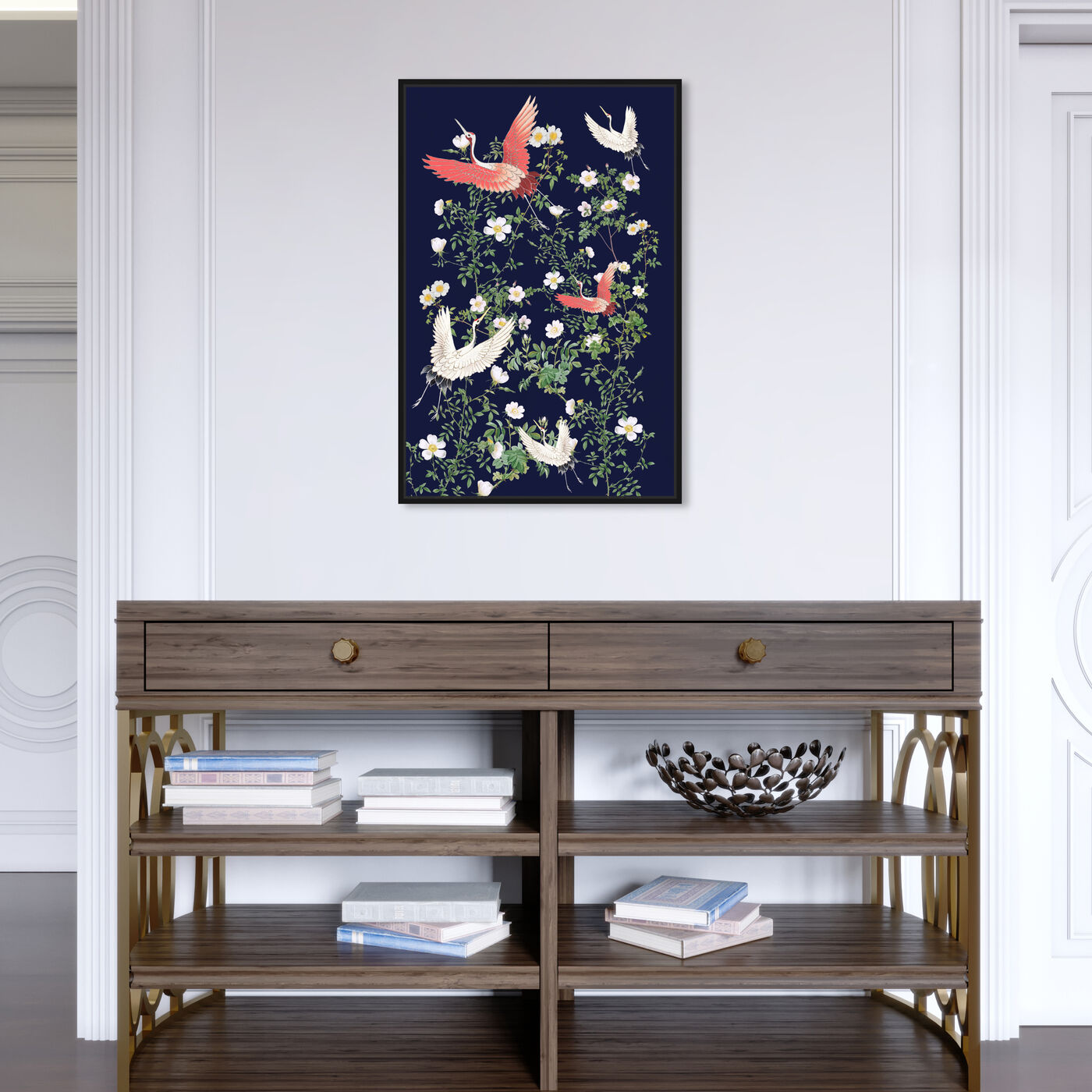 Hanging view of Take Flight featuring animals and birds art.