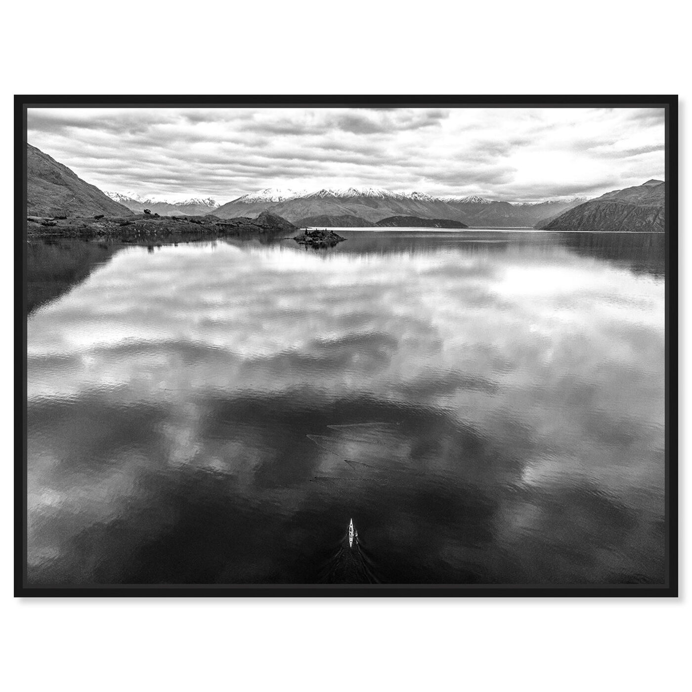 Front view of Curro Cardenal - Rowing Noir featuring nature and landscape and nature art.