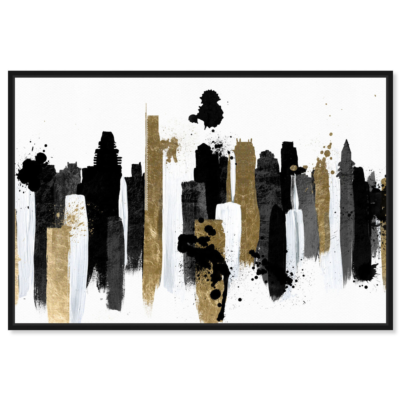 Front view of Glamorous Boston featuring abstract and paint art.