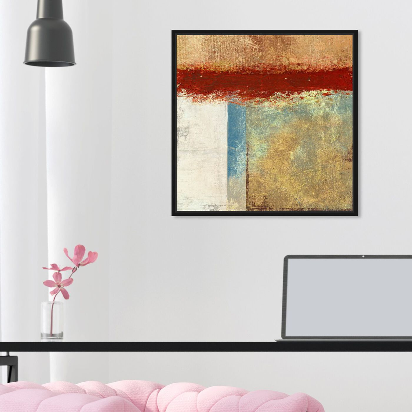 Hanging view of Sai - Paesaggio Geometrico featuring abstract and paint art.