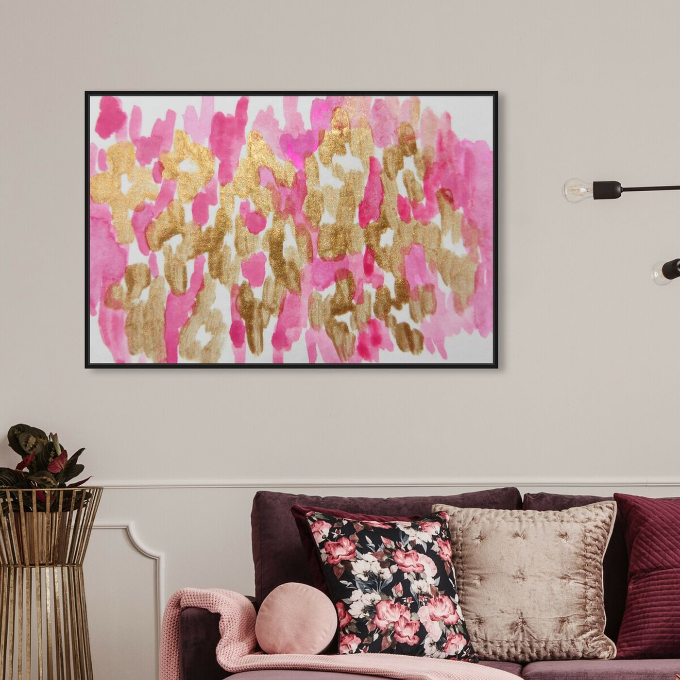 Hanging view of Damisela - Signature Collection featuring abstract and paint art.