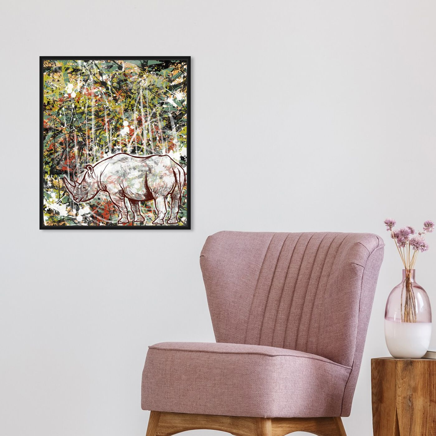 Hanging view of Wild featuring animals and zoo and wild animals art.