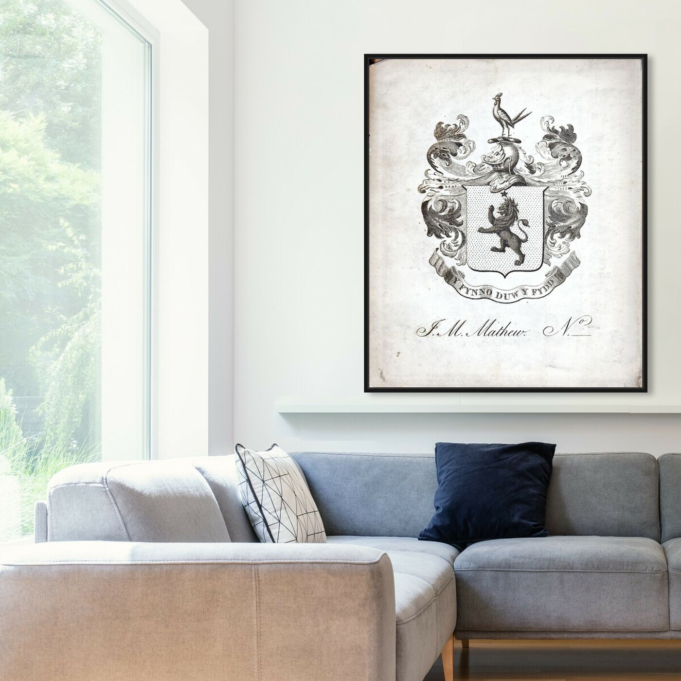 Hanging view of Armorial Engravings IV featuring world and countries and european cultures art.