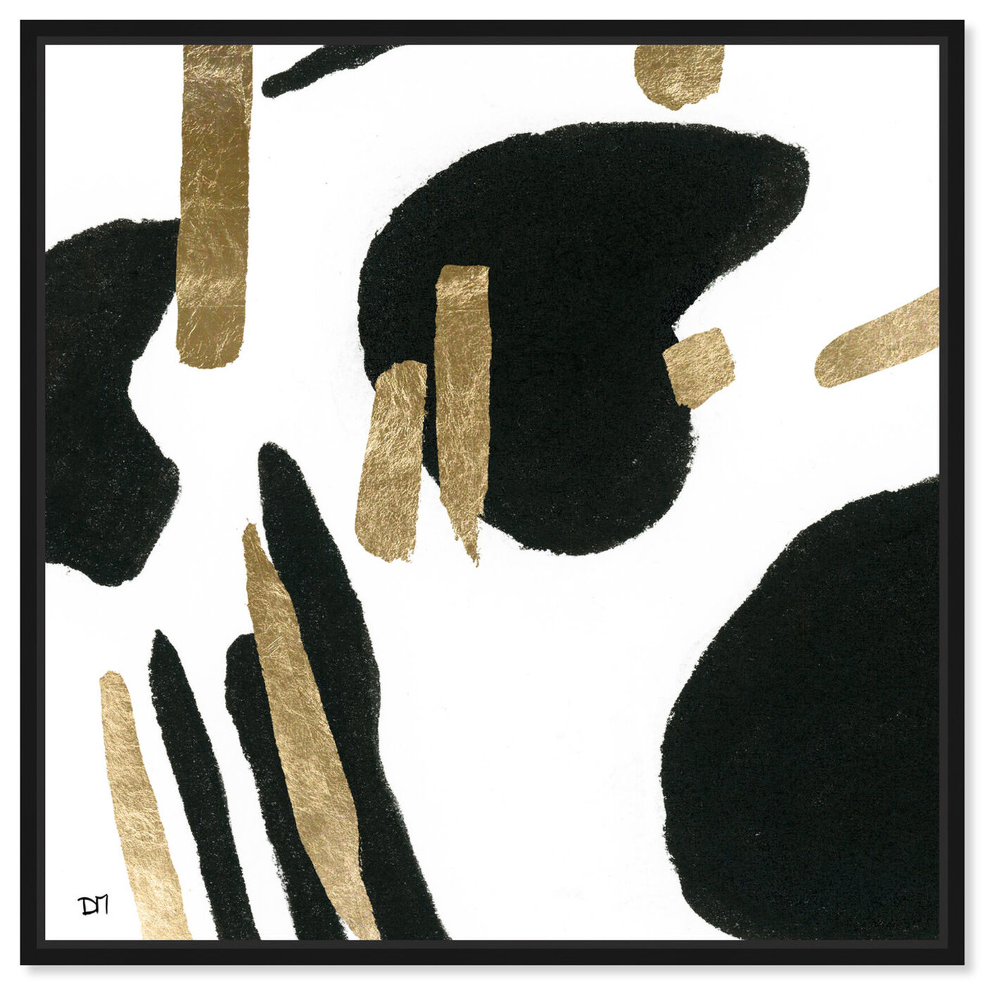 Front view of Bigger Gold featuring abstract and paint art.