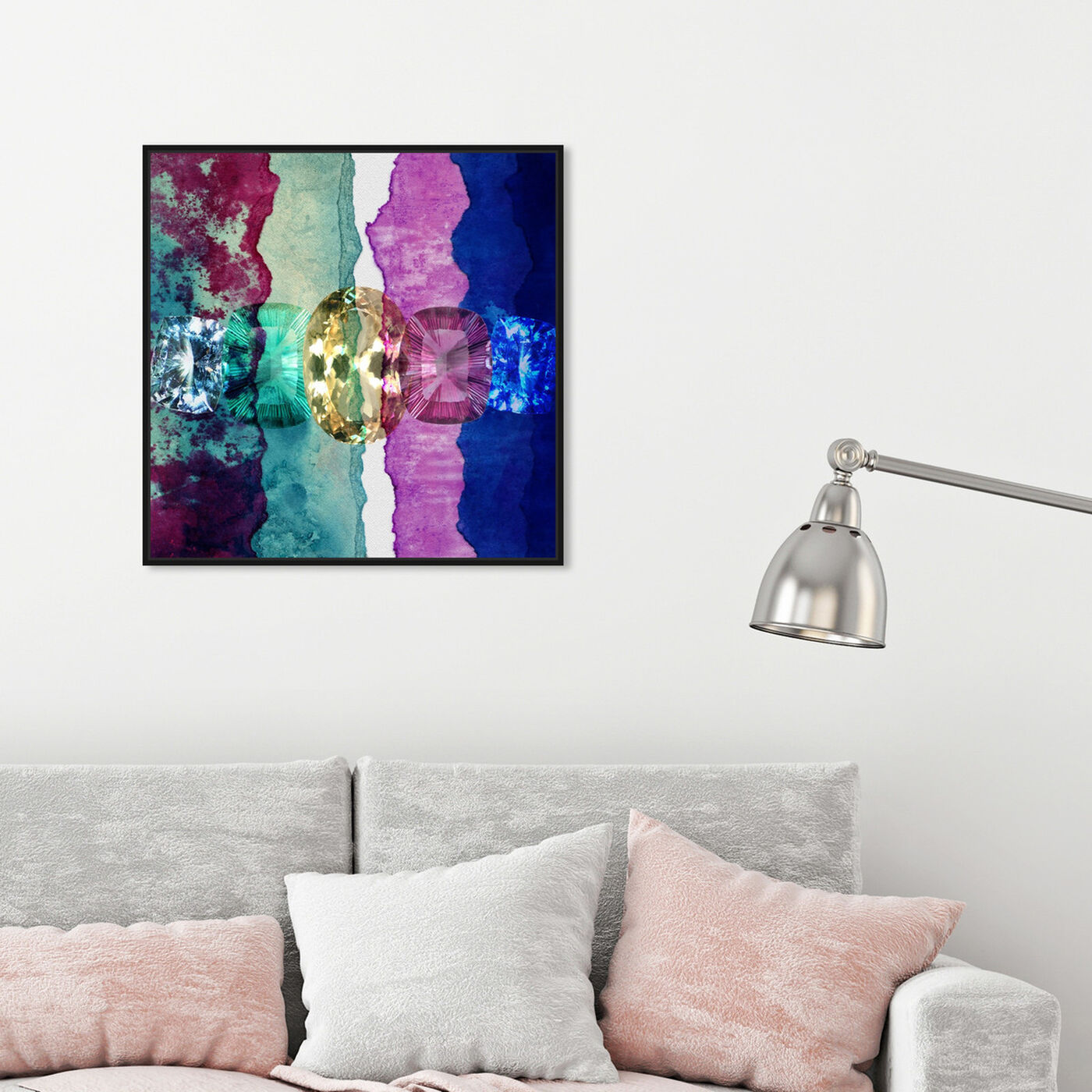 Hanging view of Texture Study I featuring abstract and crystals art.