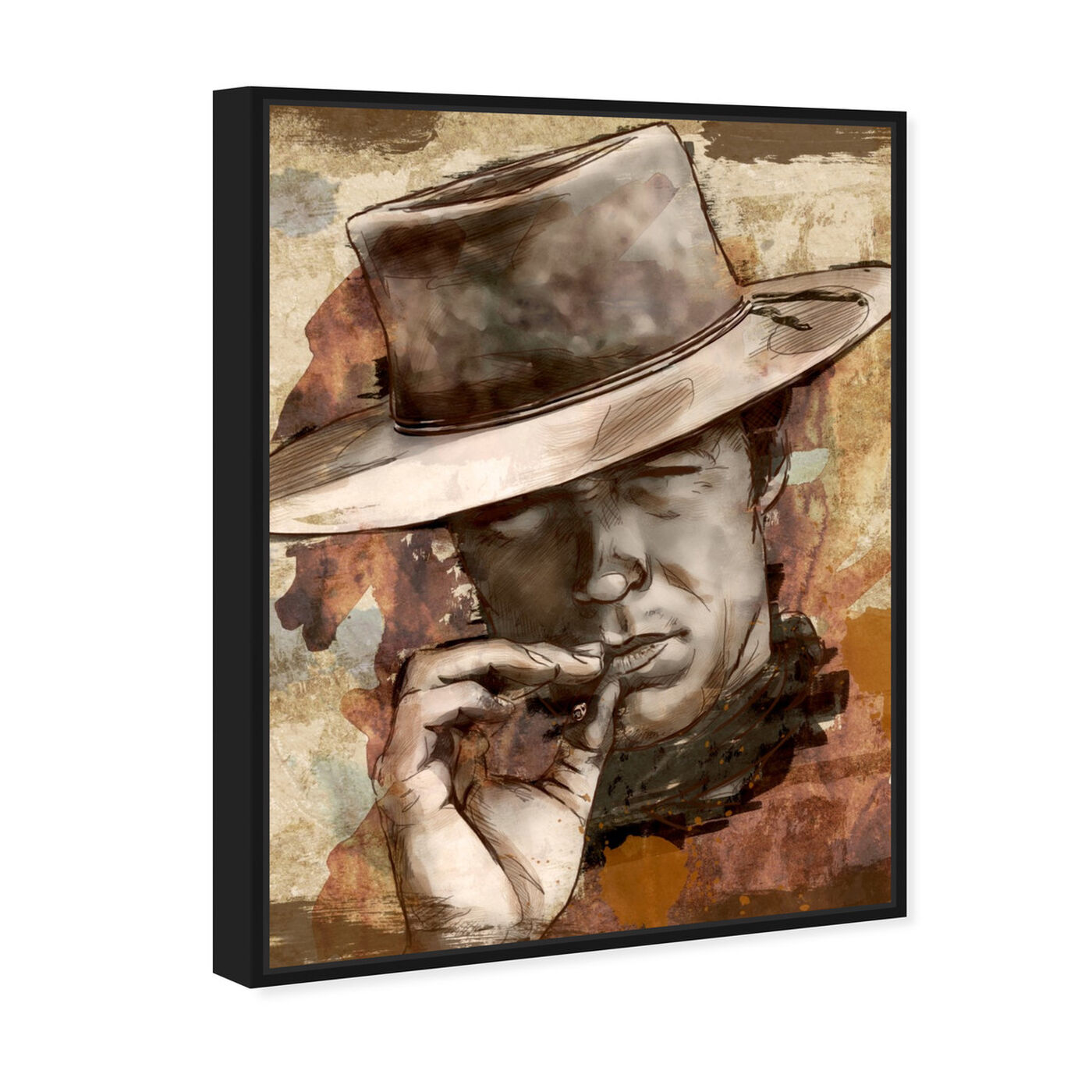 Angled view of Cowboy featuring people and portraits and professions art.