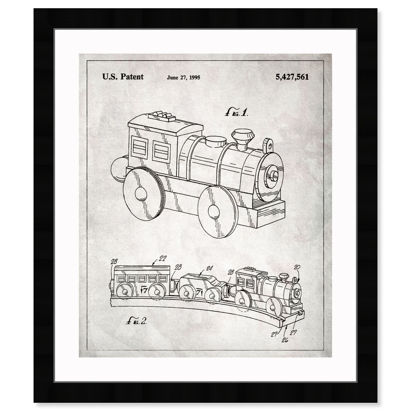 Front view of Toy Train, 1995 featuring symbols and objects and toys art.