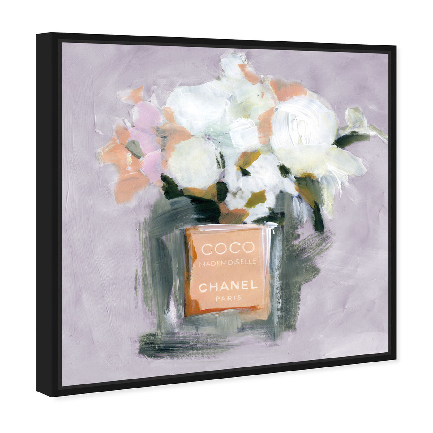 Angled view of L'Eau de Rose Lavender featuring fashion and glam and perfumes art.