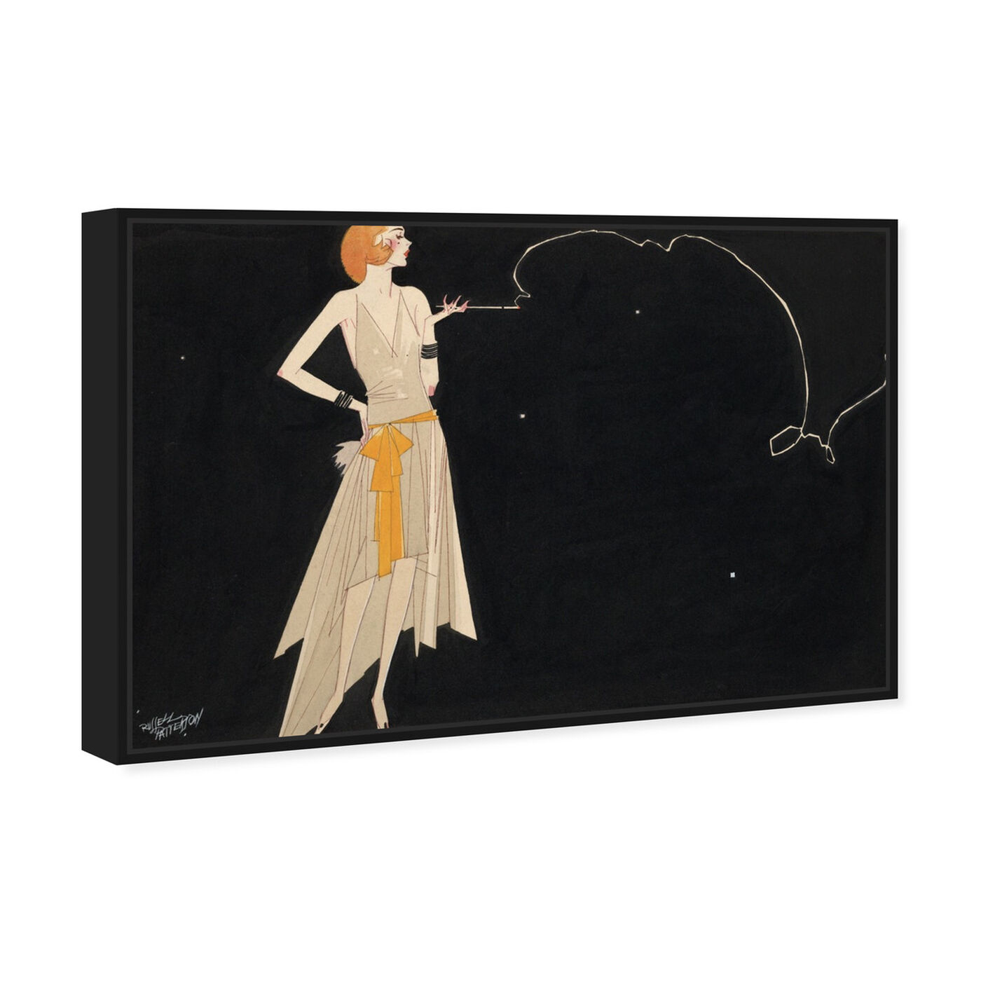 Angled view of Where There's Smoke There's Fire - The Art Cabinet featuring fashion and glam and dress art.