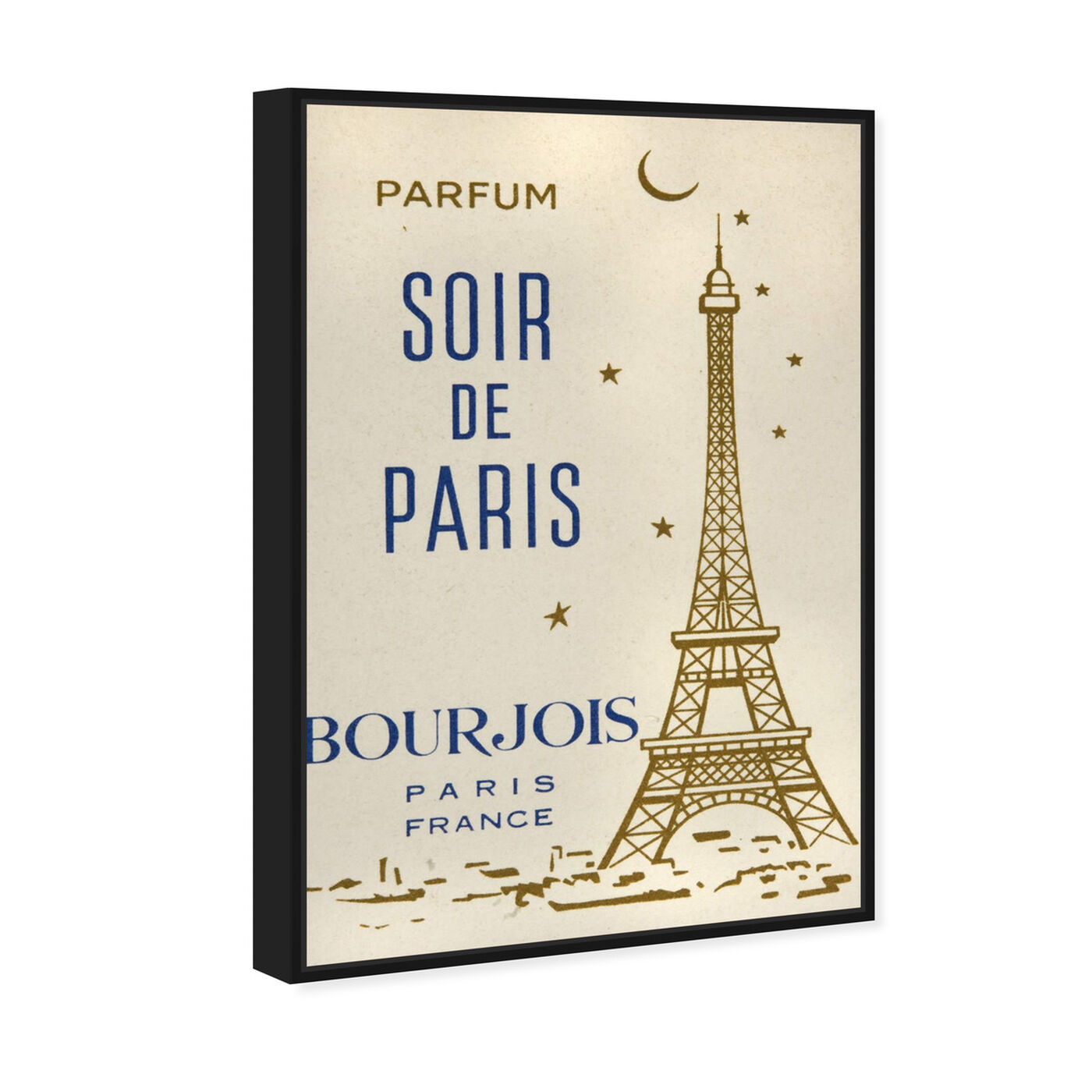 Angled view of Parfum Soir de Paris featuring cities and skylines and european cities art.