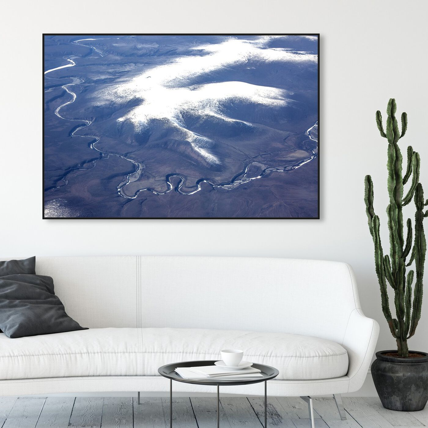Hanging view of Curro Cardenal - Aero View VII featuring nature and landscape and mountains art.