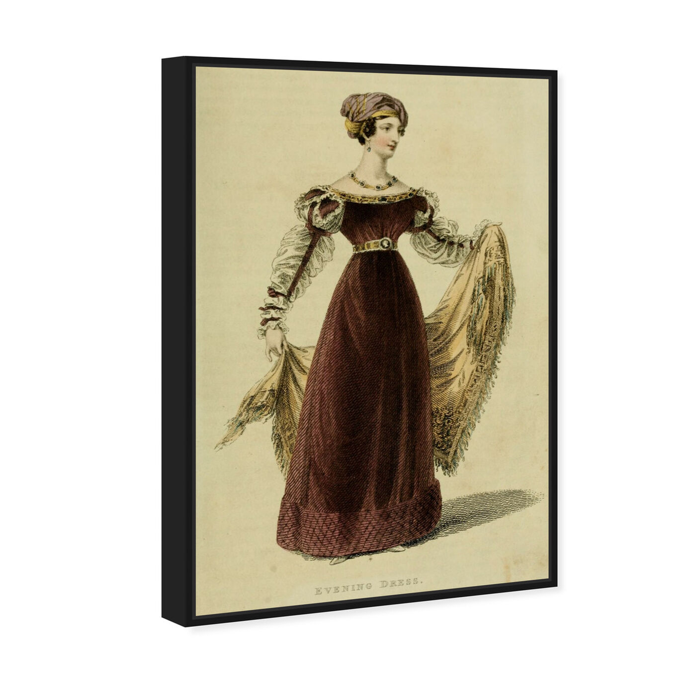 Angled view of Evening Dress V - The Art Cabinet featuring classic and figurative and realism art.