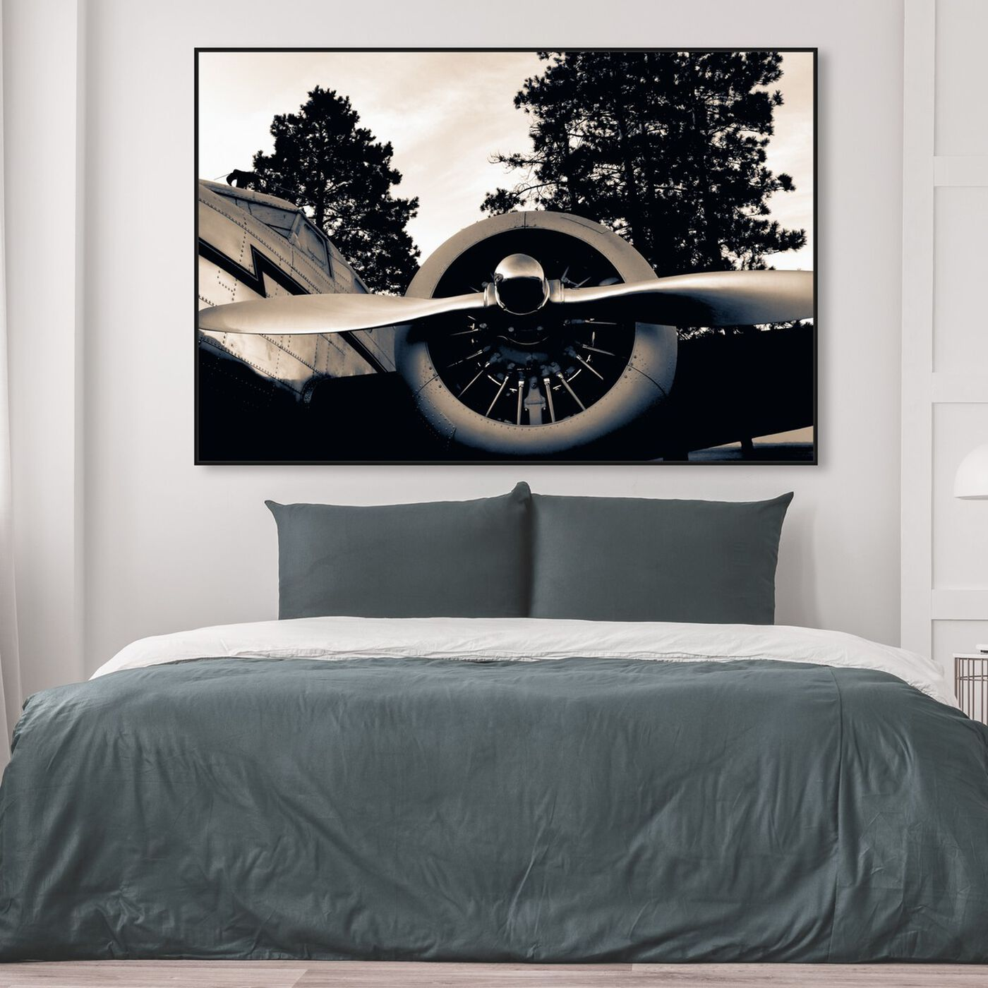Hanging view of Take Off featuring transportation and airplanes art.