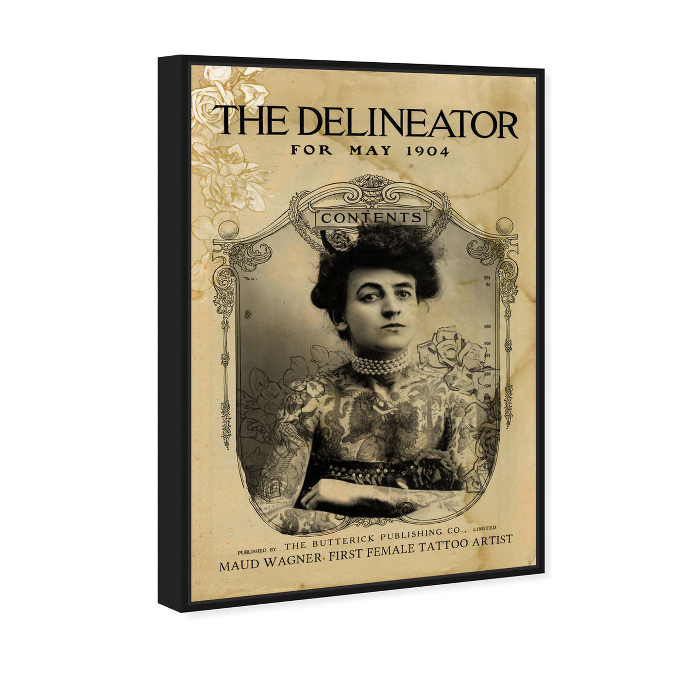 Angled view of The Delineator featuring people and portraits and portraits art.