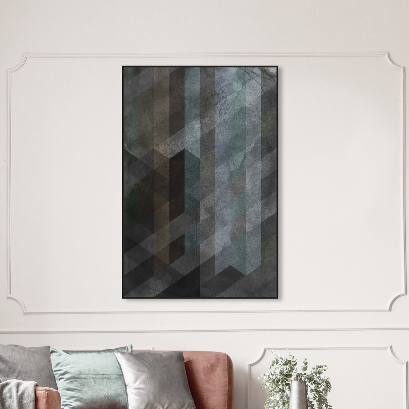 Hanging view of Steel featuring abstract and textures art.