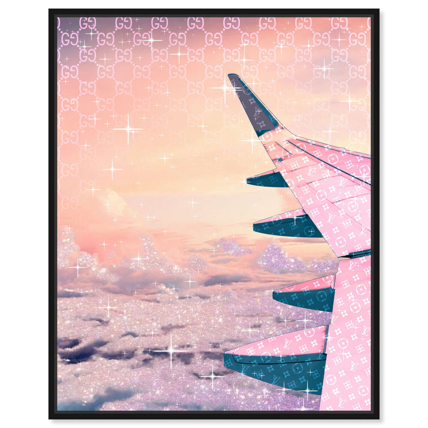 Front view of Taupe Horizon featuring transportation and airplanes art.