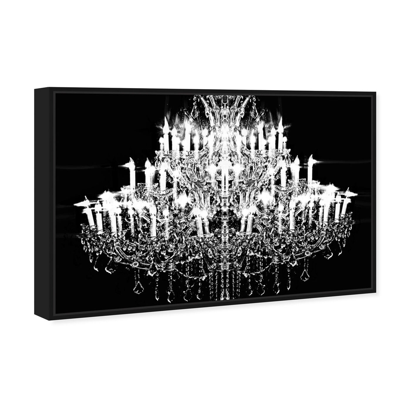 Angled view of Carmina Burana featuring fashion and glam and chandeliers art.