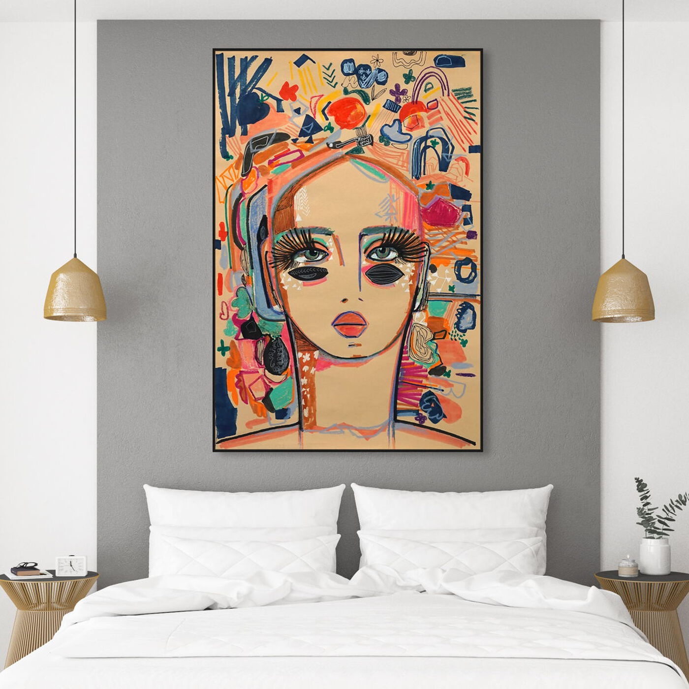 Hanging view of Rosalina - In Love With Coco featuring fashion and glam and portraits art.