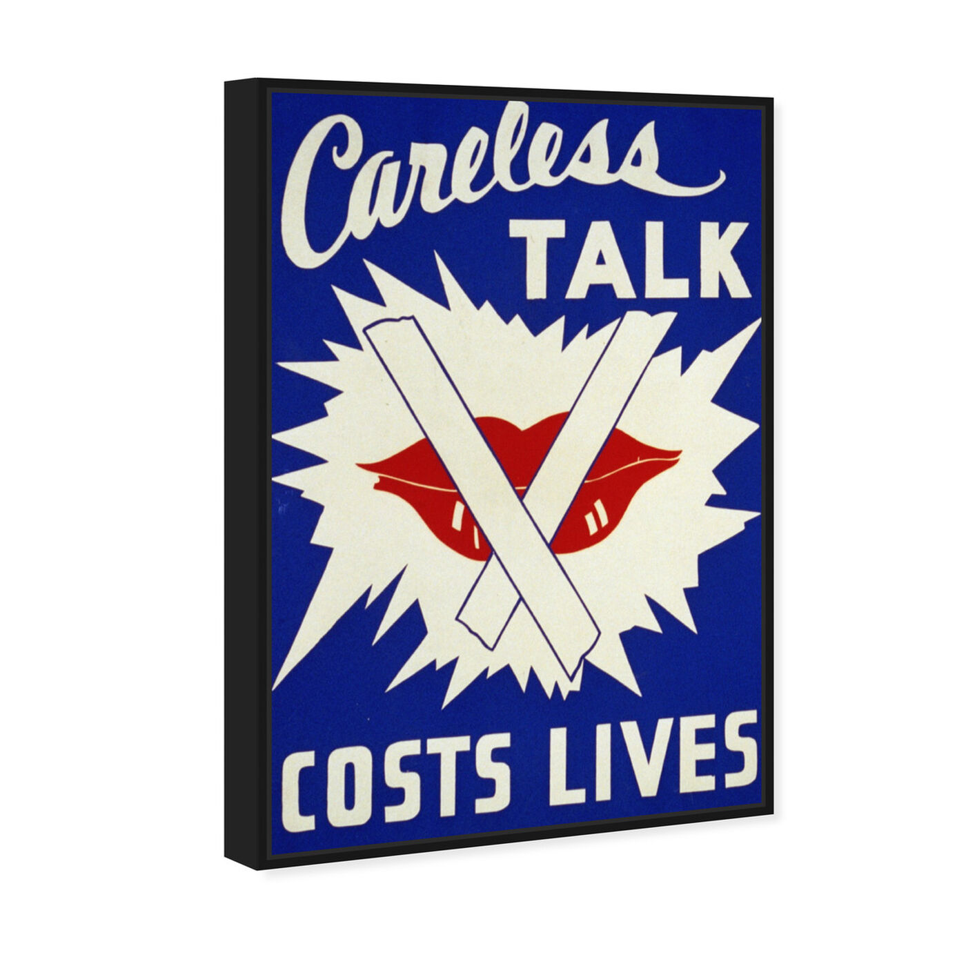 Angled view of Careless Talk featuring advertising and posters art.