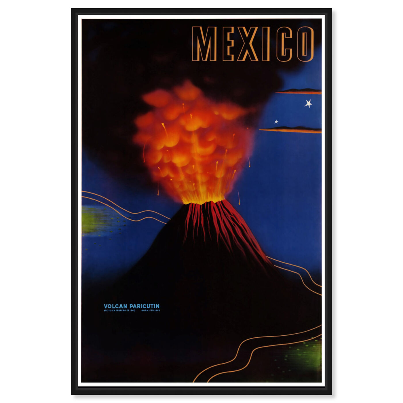 Front view of Mexico Volcan featuring world and countries and american countries art.
