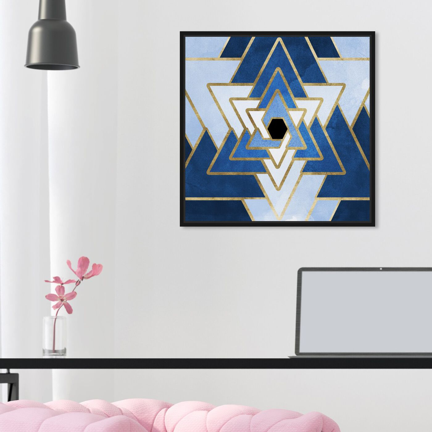 Hanging view of Azure Star featuring abstract and geometric art.