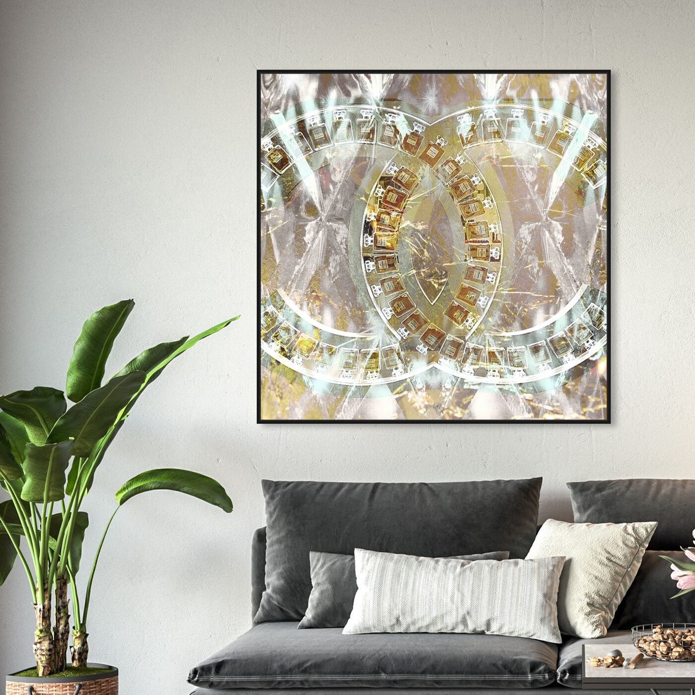 Hanging view of Gilded Diamonds featuring fashion and glam and perfumes art.