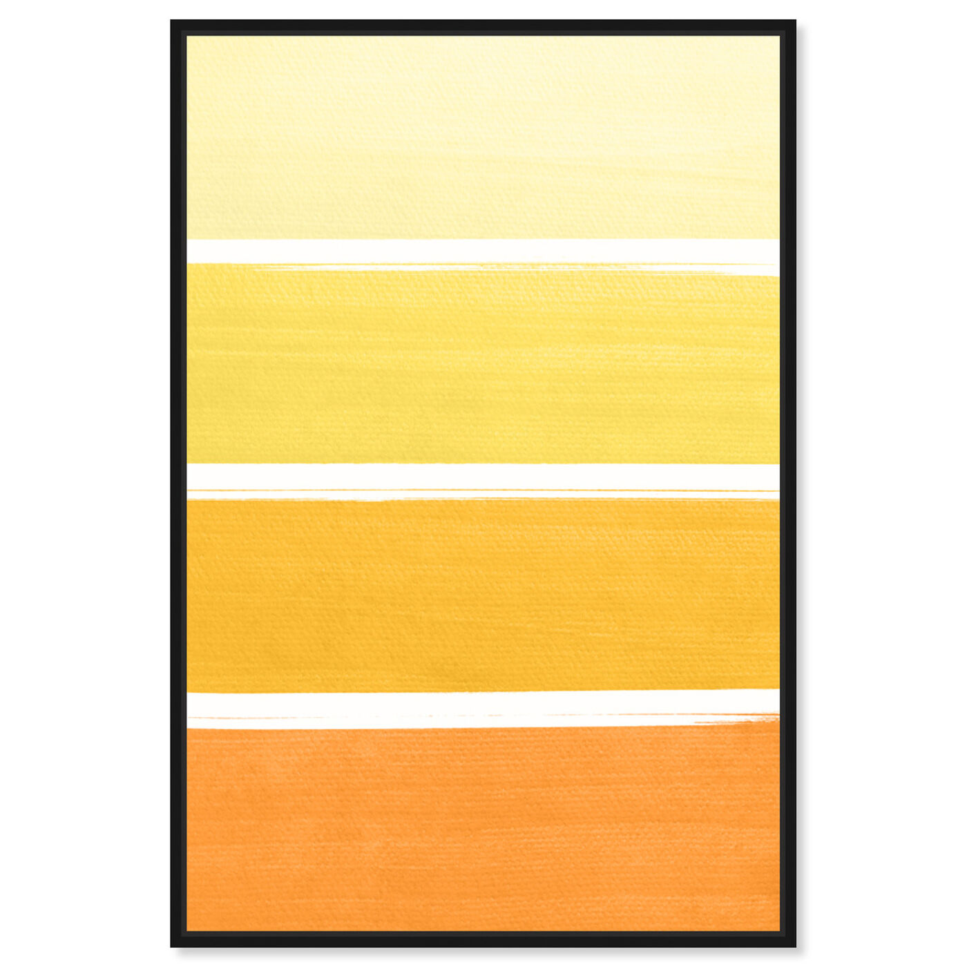 Front view of The Right Shade of Yellow featuring abstract and paint art.