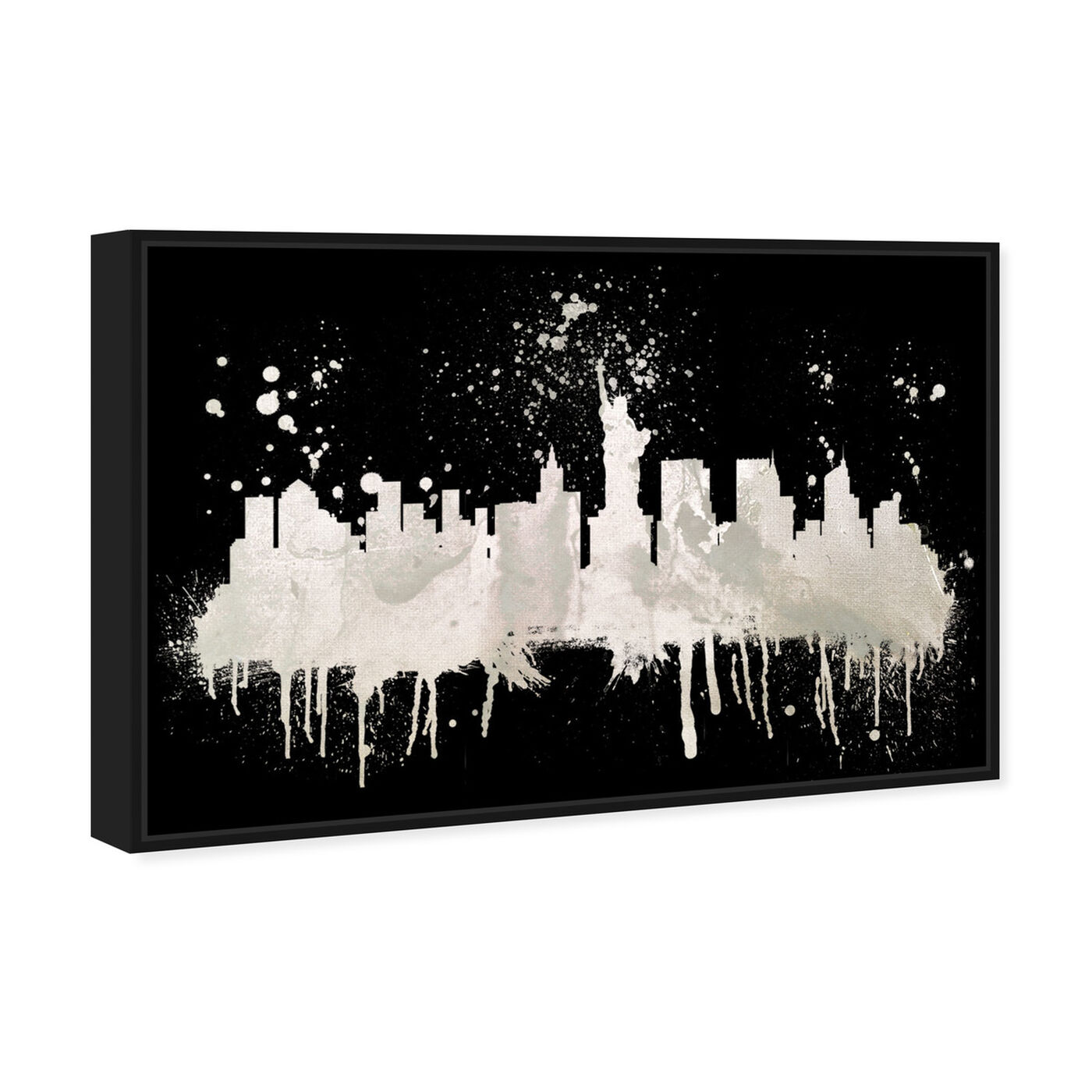 Angled view of New York Skyline 2 I featuring cities and skylines and united states cities art.