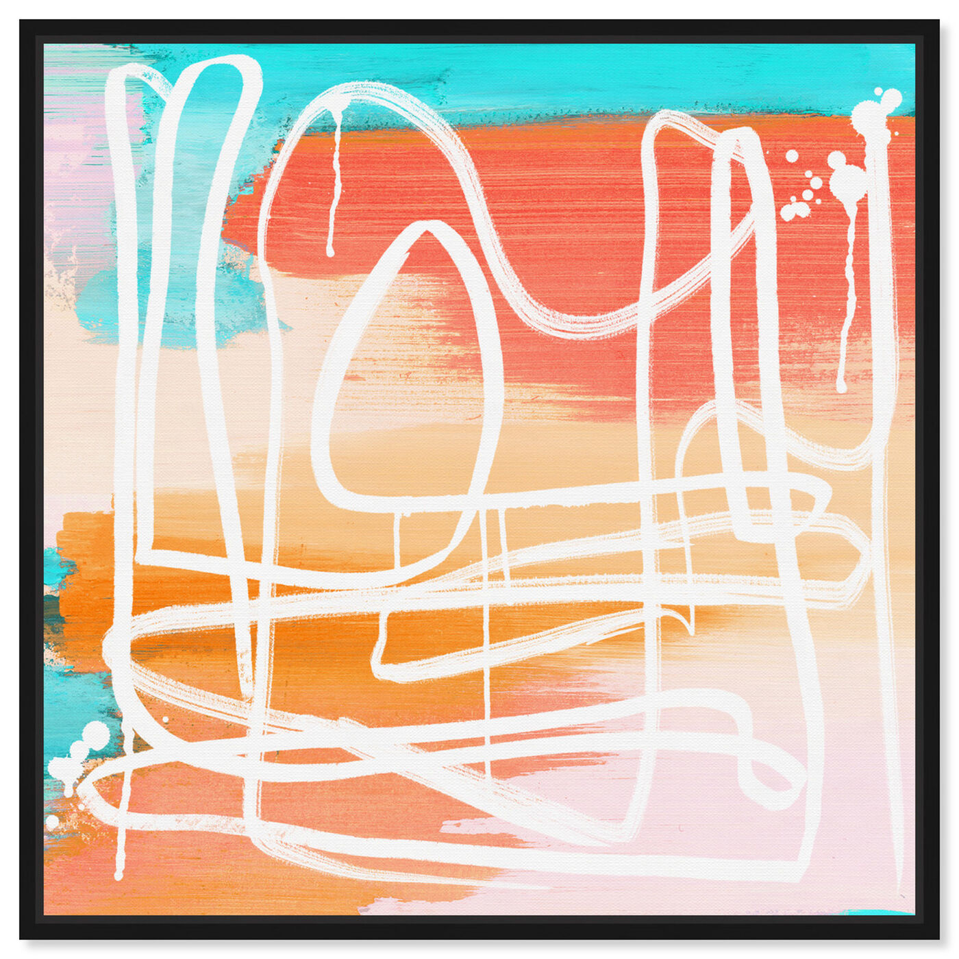 Front view of Crossing the Line featuring abstract and paint art.