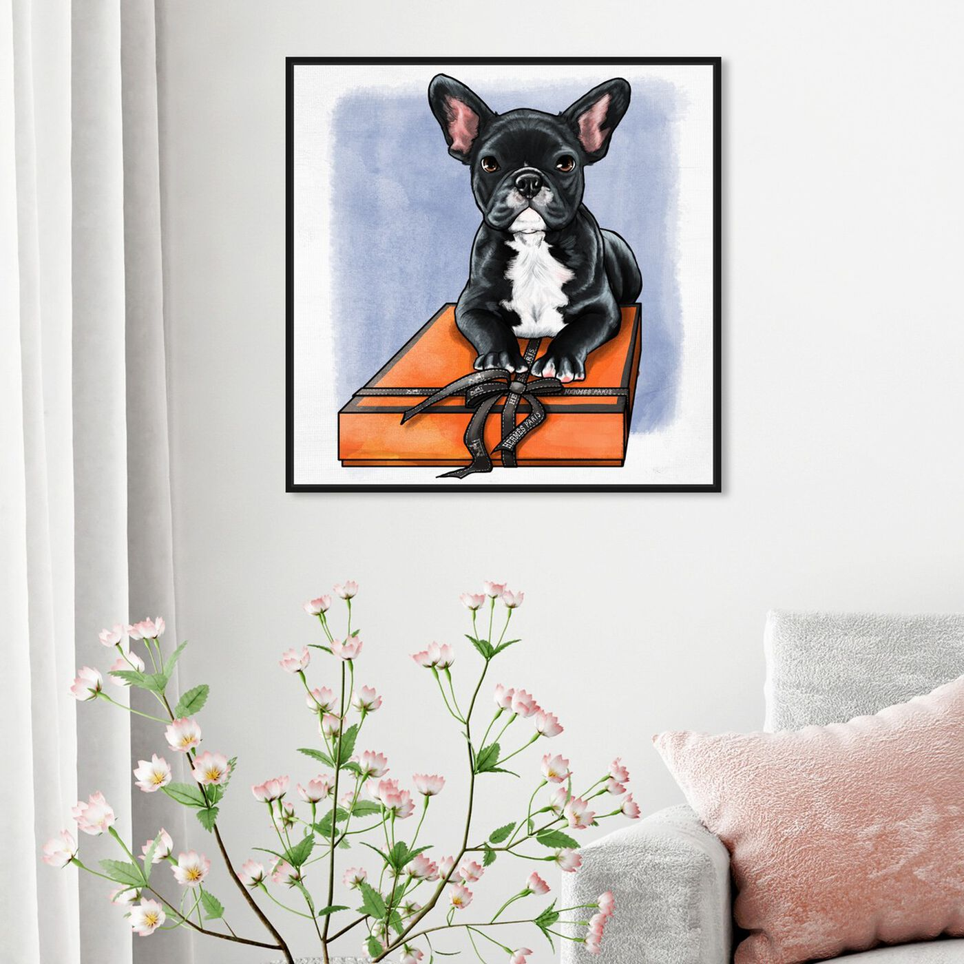 Hanging view of Treasure Box Frenchie II featuring fashion and glam and fashion art.